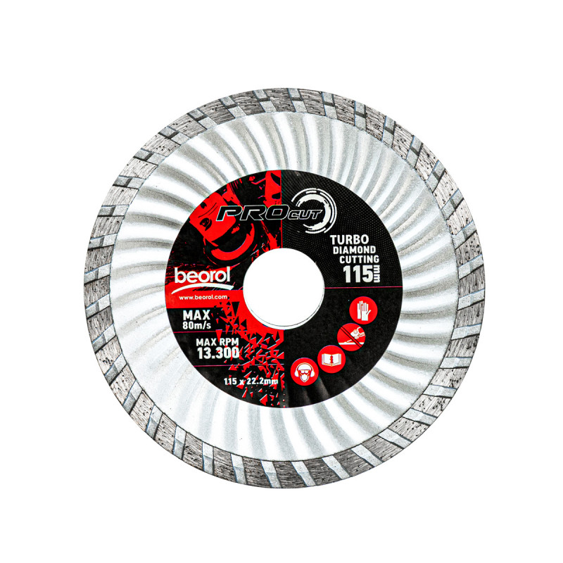 Turbo diamond cutting disc, ø115mm