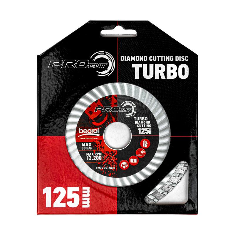 Turbo diamond cutting disc, ø125mm