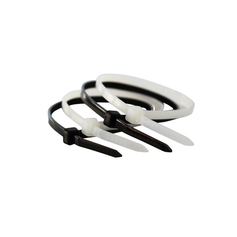 Plastic tie black 4.8x400mm 50 pcs.