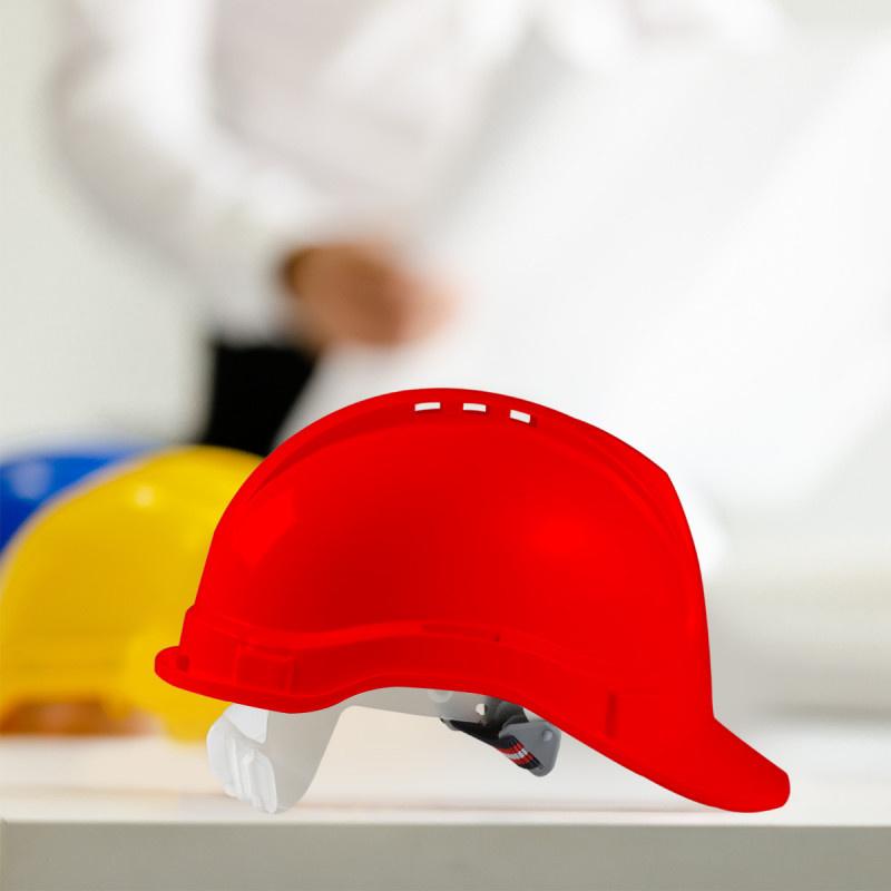 Safety helmet, red colour