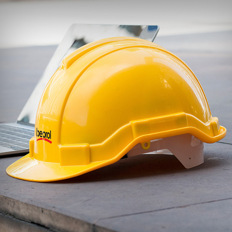 Safety helmet, yellow colour