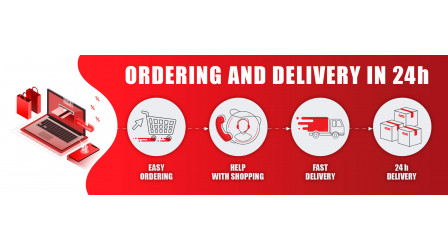 Ordering and delivery in 24h